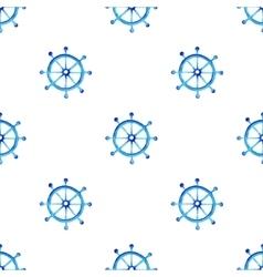 Watercolor steering wheel pattern vector image vector image