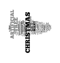 artificial christmas trees text background word vector image vector image