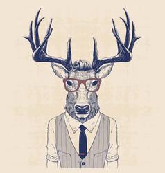 business deer vector image