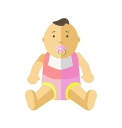 Cute little baby 0-12 months vector image