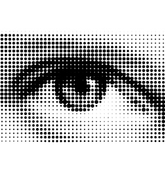 halftone eye illustration vector image vector image