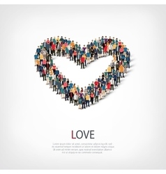 love people crowd vector image