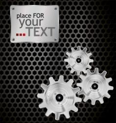 metal gears background vector image