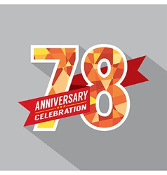 78th Years Anniversary Celebration Design vector