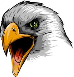A eagle head mascot in white vector