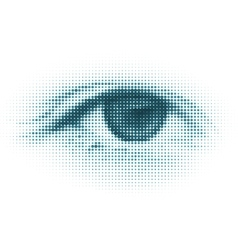 abstract halftone digital eye vector image