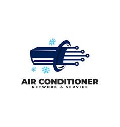Air conditioner network logo vector