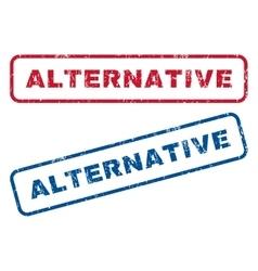 Alternative rubber stamps vector
