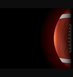 american football ball banner vector image