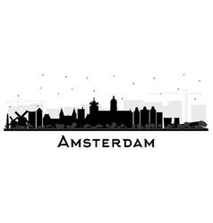 Amsterdam holland city skyline silhouette vector