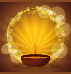 Aromatherapy candle with sunburst lights vector