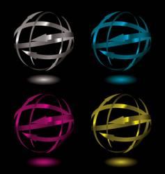 Arrow metal ball vector