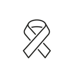 Awareness ribbon line icon vector