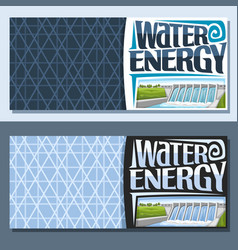 banners for water energy vector image