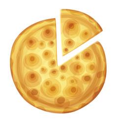 bar pizza top view cartoon food vector image