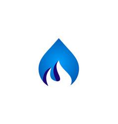 bio water gas logo vector image