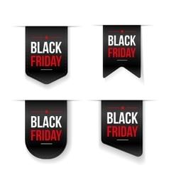 Black Friday ribbon tag set vector