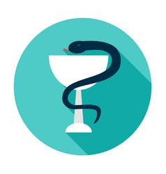 bowl snake medicine circle icon vector image
