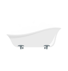 bubblebath in bathtube icon flat style vector image