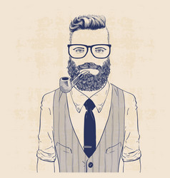 Business hipster vector