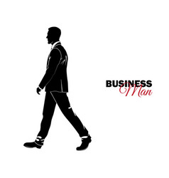 businessman manager a man in a business suit vector image