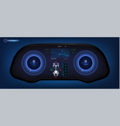 car hud dashboard vector image