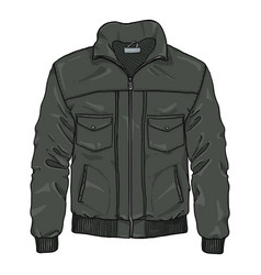 Cartoon lather mens jacket vector