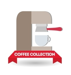 Coffee machine design vector