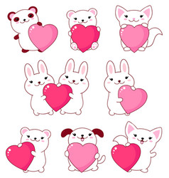 collection of cute animals baby vector image