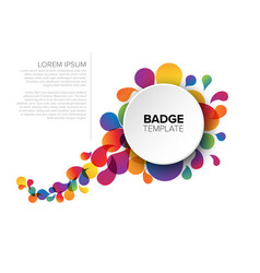 colorful badge tag template vector image