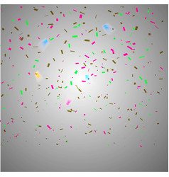 Colorful bright confetti isolated on transparent vector