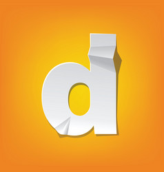 D lowercase letter fold english alphabet new vector