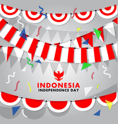 Decorative indonesia flag background vector