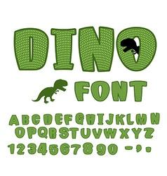 Dino font dinosaur ABC Texture animal of Jurassic vector