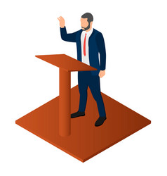 election candidate icon isometric style vector image