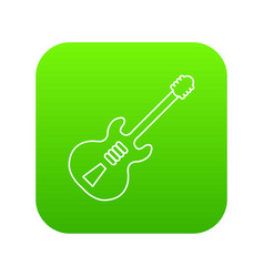 electric guitar icon green vector image