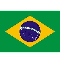 Flag brazil vector