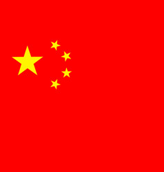 flag of peoples republic of china vector image