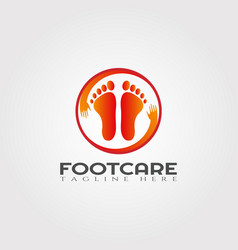 Foot care logo design beauty and healthcare icon vector