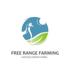 Free range farming symbol vector