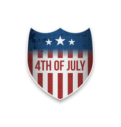 Greeting banner for 4th july vector