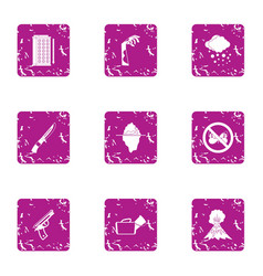 Harassment icons set grunge style vector