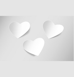 Heart shaped sticky paper vector