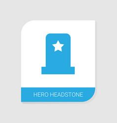 hero headstone icon white background vector image
