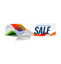Indian independence day sale background vector