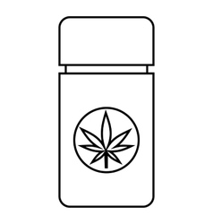 Jar pills marijuana icon outline style vector