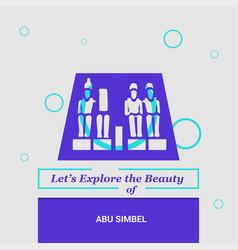 Lets explore the beauty of abu simbel aswan vector