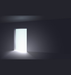 Light in a dark room vector