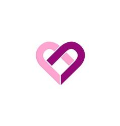Love heart valentine couple logo vector