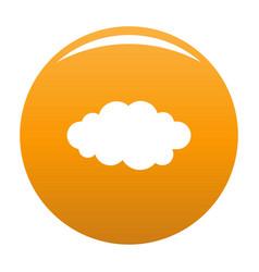 Luminous translucent cloud icon orange vector